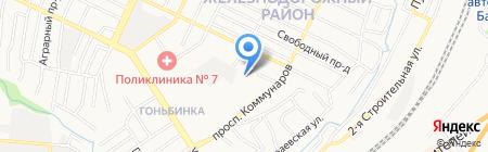Антей-Коммунар на карте Барнаула