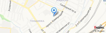Детский сад №81 на карте Барнаула
