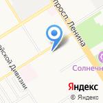 Калач на карте Барнаула