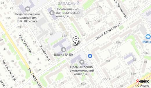 Алтай-Кальцит. Схема проезда в Барнауле