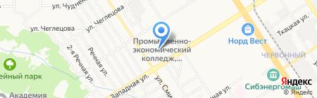 Детский сад №215 на карте Барнаула