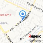 ЛЕКСКОМ на карте Барнаула