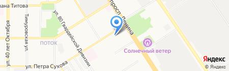 Детский сад №105 на карте Барнаула