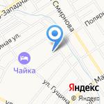 Фриона на карте Барнаула