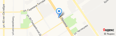 Будильник на карте Барнаула