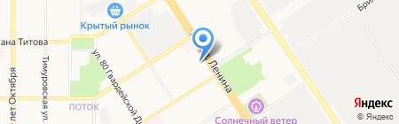 Адверта на карте Барнаула