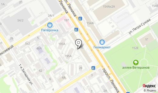 Барнаульское опытно-конструкторское бюро автоматики. Схема проезда в Барнауле