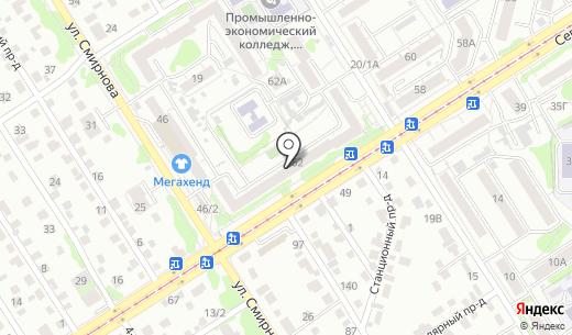 ТСЖ Уют-62. Схема проезда в Барнауле