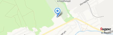 Лыжная база на карте Барнаула