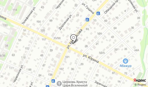 Автосервис. Схема проезда в Барнауле