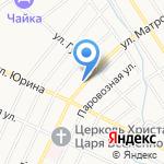 Большая шина на карте Барнаула