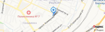 У Романа на карте Барнаула