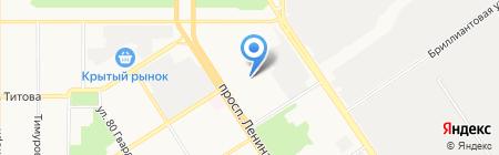 Астудия НОУ на карте Барнаула
