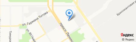 Галланск на карте Барнаула