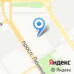 Парус на карте Барнаула
