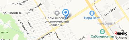 Магазин по продаже табачных изделий на карте Барнаула