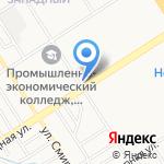 Киоск по продаже печатной продукции на карте Барнаула