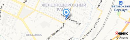 Заря на карте Барнаула