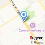 Транс-Сиб на карте Барнаула