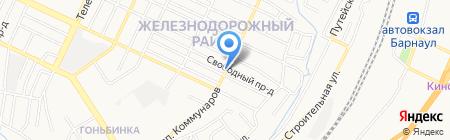 Алмаз на карте Барнаула