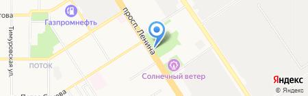 Таежная тропа на карте Барнаула