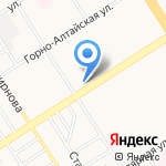 Золотист на карте Барнаула