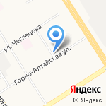 Западный на карте Барнаула