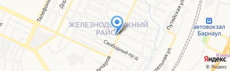 Средняя общеобразовательная школа №78 на карте Барнаула