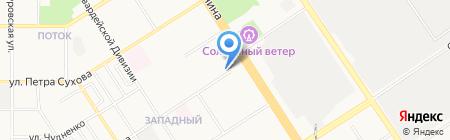 Совет территориального общественного самоуправления Западного микрорайона на карте Барнаула