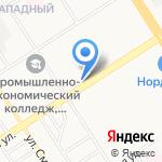 Новоеловская птицефабрика на карте Барнаула