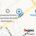 Никос на карте Барнаула