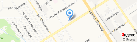 Блеск на карте Барнаула