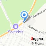 Лен Алтая на карте Барнаула