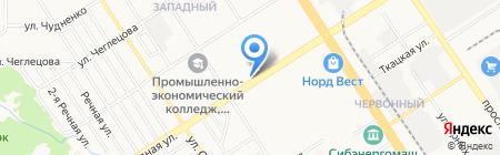Пинта на карте Барнаула