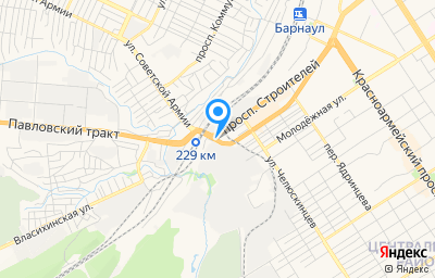 Местоположение на карте пункта техосмотра по адресу г Барнаул, пр-кт Строителей, д 135