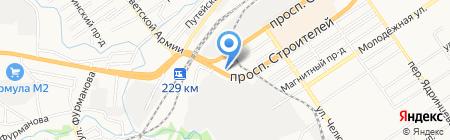 Автобокс на карте Барнаула