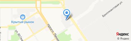 Служба активного отдыха на карте Барнаула