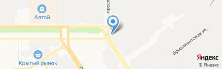 Автогенный завод на карте Барнаула