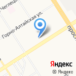 Модистка на карте Барнаула