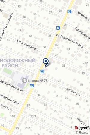 Шиномонтажная мастерская на проспекте Коммунаров на карте Барнаула