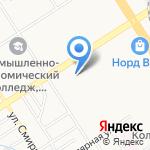 Этуаль на карте Барнаула