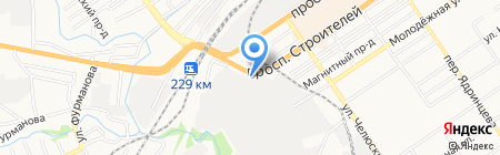 Автомеханика на карте Барнаула