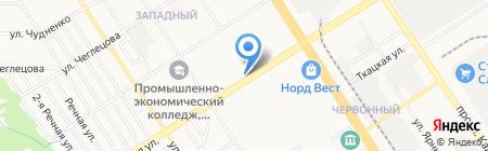 Алтайские фейерверки на карте Барнаула