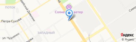 Рахат на карте Барнаула