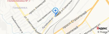 Эрмине-Сласть на карте Барнаула