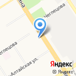 Алтайский бройлер на карте Барнаула
