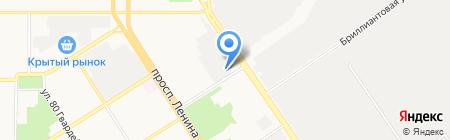 Хладотехника-Алтай на карте Барнаула