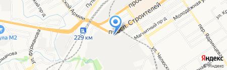 Графика на карте Барнаула