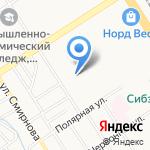 Военторг на карте Барнаула