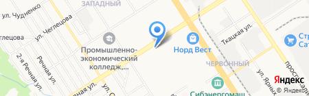 Занимашки на карте Барнаула